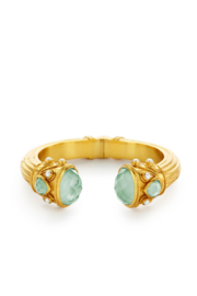 The Birds Nest BYZANTINE HINGE CUFF-IRIDESCENT AQUAMARINE BLUE - Product Mini Image