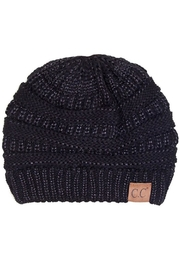 C.C. Beanie -Black Shimmer - Front cropped