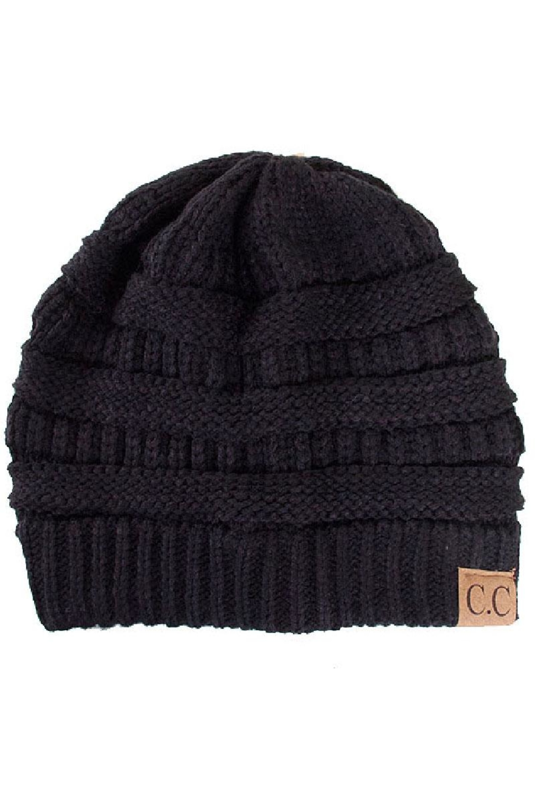 C.C. Black Knit Beanie - Main Image