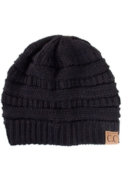 C.C. Black Knit Beanie - Front cropped