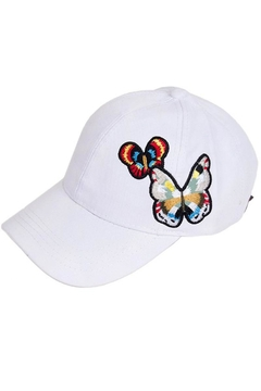 Shoptiques Product: Butterfly Baseball Cap
