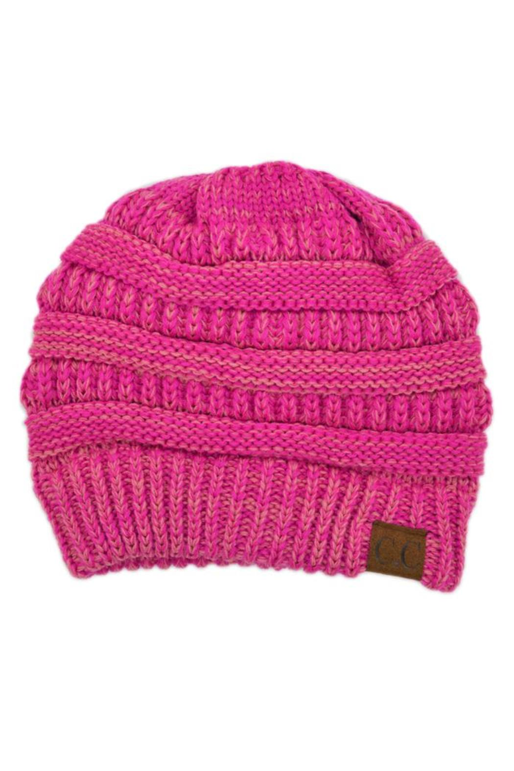 C.C. Pink Beanie - Front Cropped Image