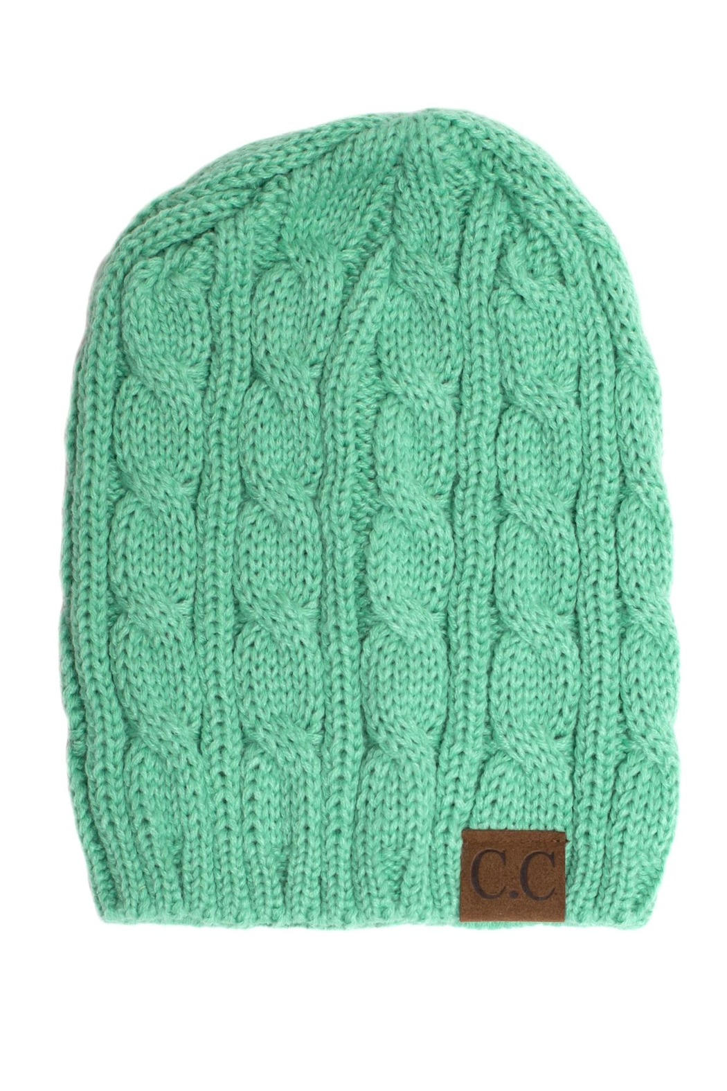 C.C. Cable Knit Beanie - Main Image