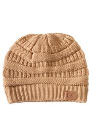 C.C. Camel Knit Beanie - Product Mini Image