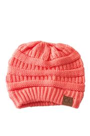 C.C. Coral Knit Beanie - Front cropped