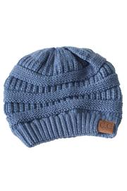 C.C. Denim Knit Beanie - Product Mini Image