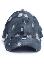 C.C. Distressed Denim Cap - Product Mini Image