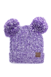 C.C. Double Pom Beanie - Product Mini Image