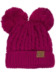 C.C. Double Pom Beanie - Front cropped