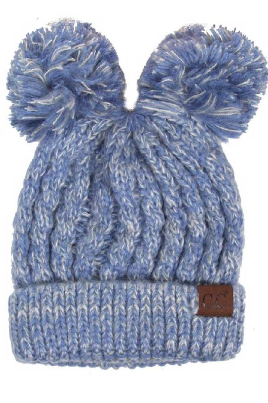 C.C. Double Pom Beanie - Front Cropped Image