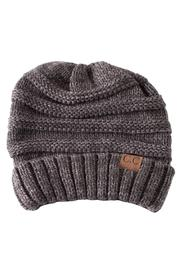 C.C. Grey Slouchy Beanie - Product Mini Image