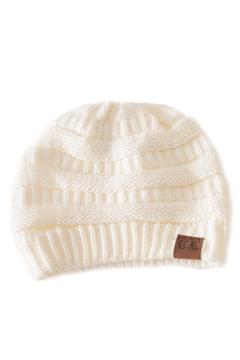 Shoptiques Product: Ivory Knit Beanie