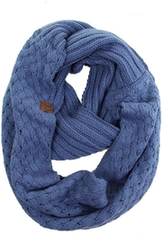 C.C. Knitted Basketweaved Scarf - Front cropped