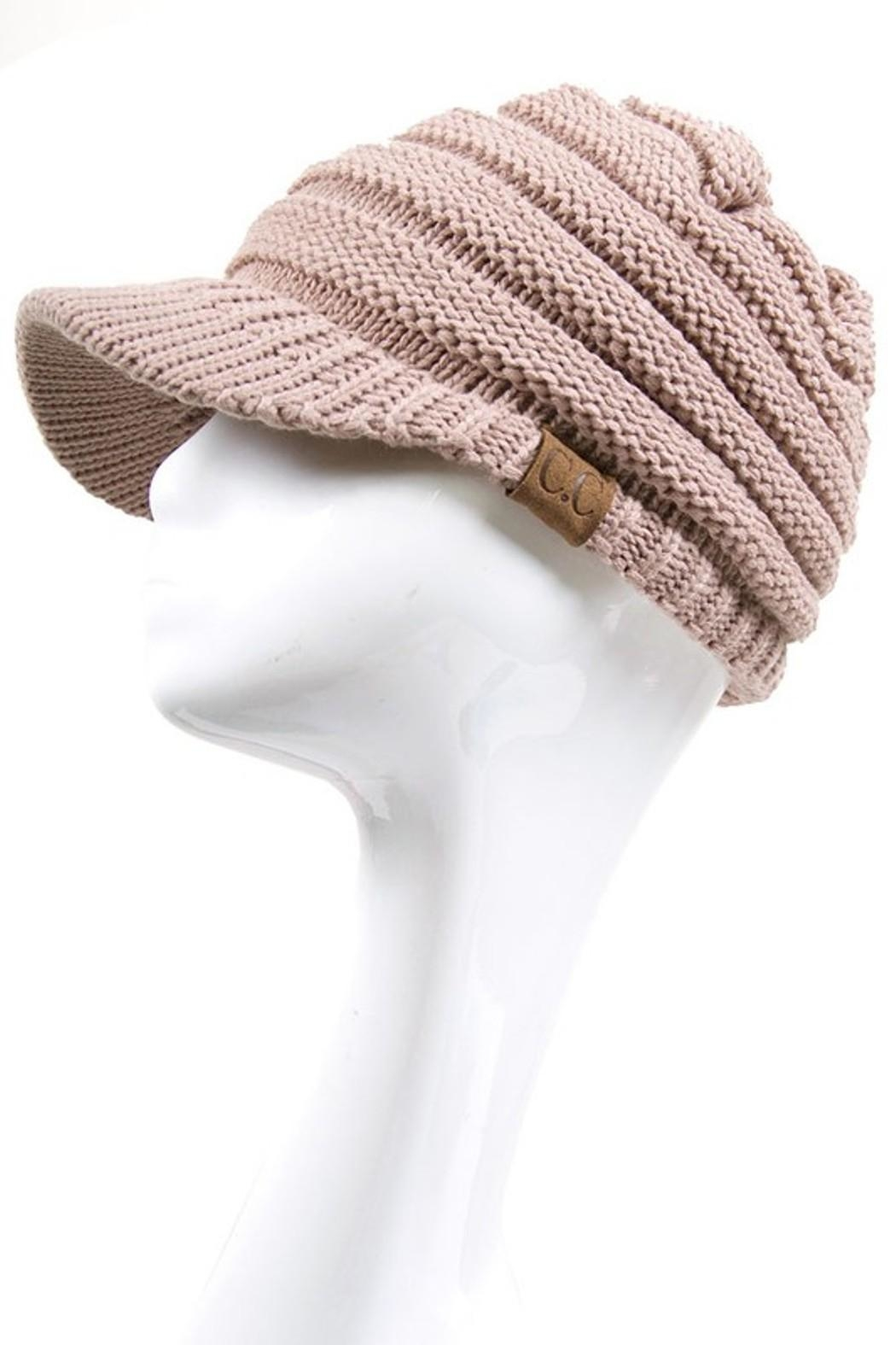 C.C. Knitted Brim Hat - Main Image