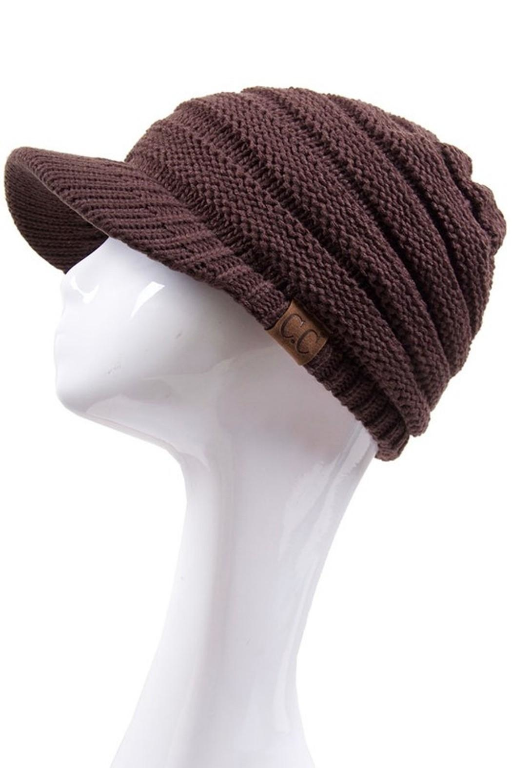 C.C. Knitted Brim Hat - Front Cropped Image