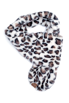 C.C. Leopard Fur Scarf - Alternate List Image