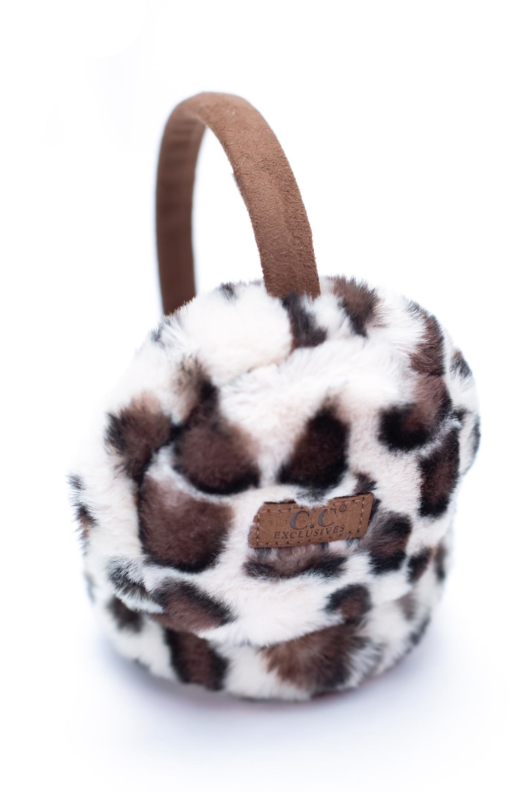 C.C. Leopard Print Earmuffs - Front Cropped Image
