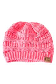 C.C. Pink Knit Beanie - Product Mini Image