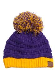 C.C. Pom Knit Beanie - Product Mini Image