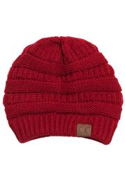 C.C. Red Knit Beanie - Product Mini Image