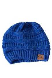 C.C. Royal Blue Beanie - Front cropped