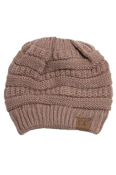 Shoptiques Product: Taupe Knit Beanie