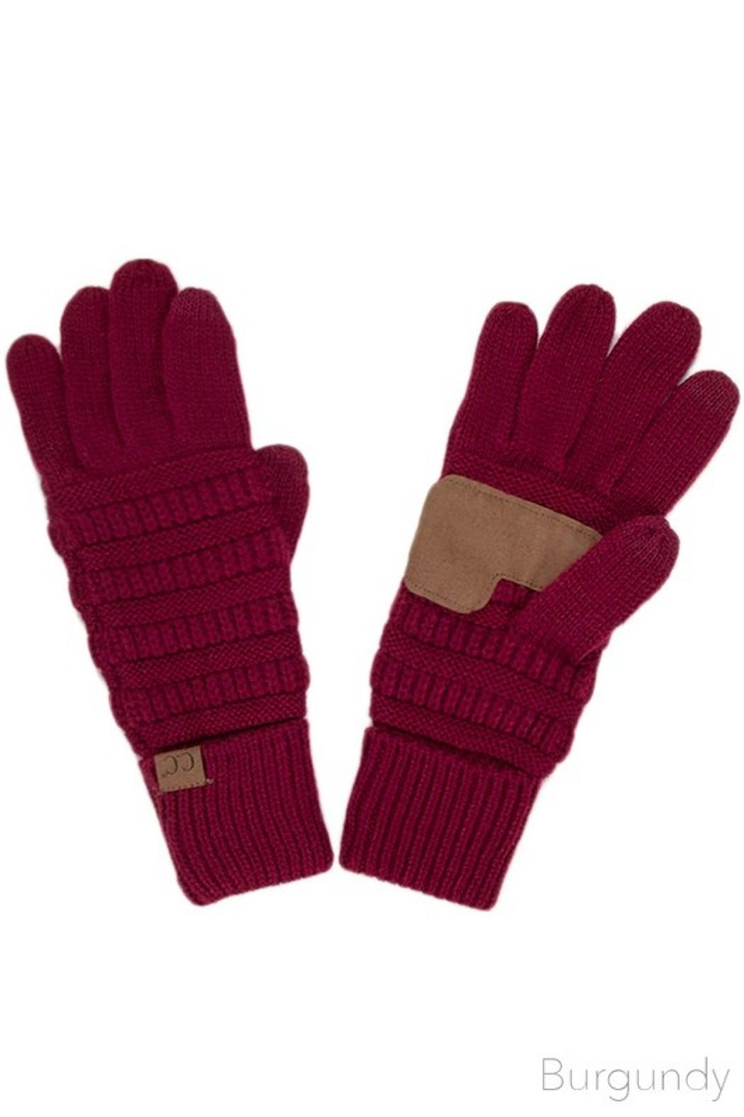 C.C. Touch Screen Gloves - Front Cropped Image
