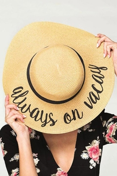 Shoptiques Product: Vacation Straw Hat