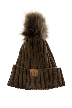 Shoptiques Product: Ribbed Pom Hat