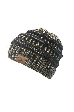 Shoptiques Product: Black Gold Beanie
