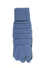 C.C Beanie Blue Sparkly Gloves - Front cropped