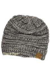 C.C Beanie Gray Two-Tone Beanie - Front cropped