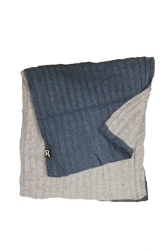 Shoptiques Product: Grey-Blue Infinity Scarf