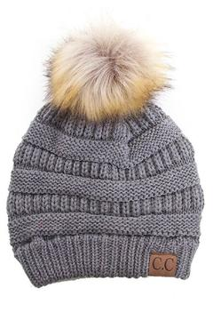 Shoptiques Product: Grey Knit Beanie