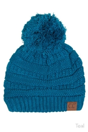 C.C Beanie Knitted Beanie Knit-Pom - Front cropped