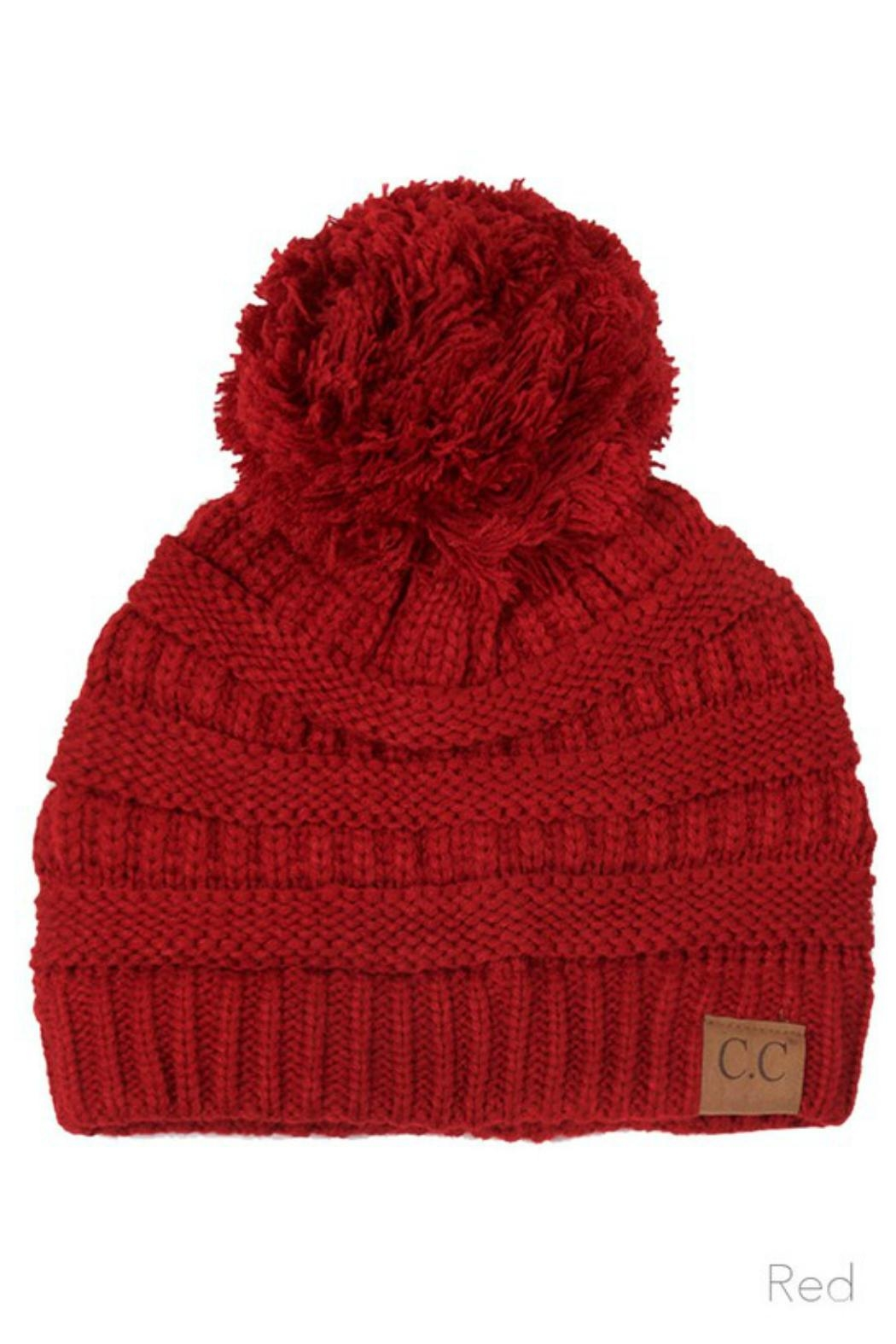 C.C Beanie Knitted Beanie Knit-Pom - Front Cropped Image