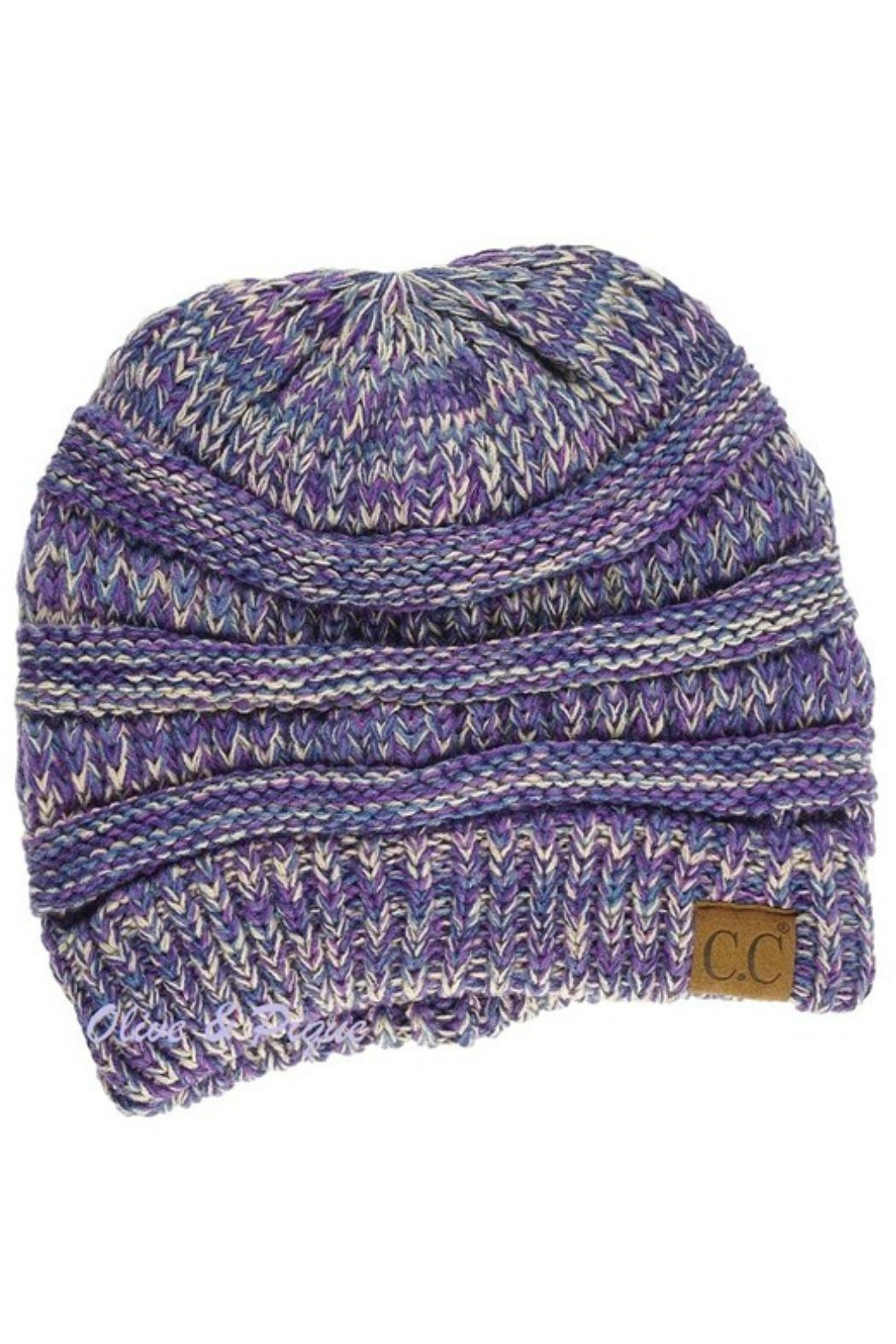 C.C Beanie Multi-Ribbed Knit Beanie - Front Cropped Image