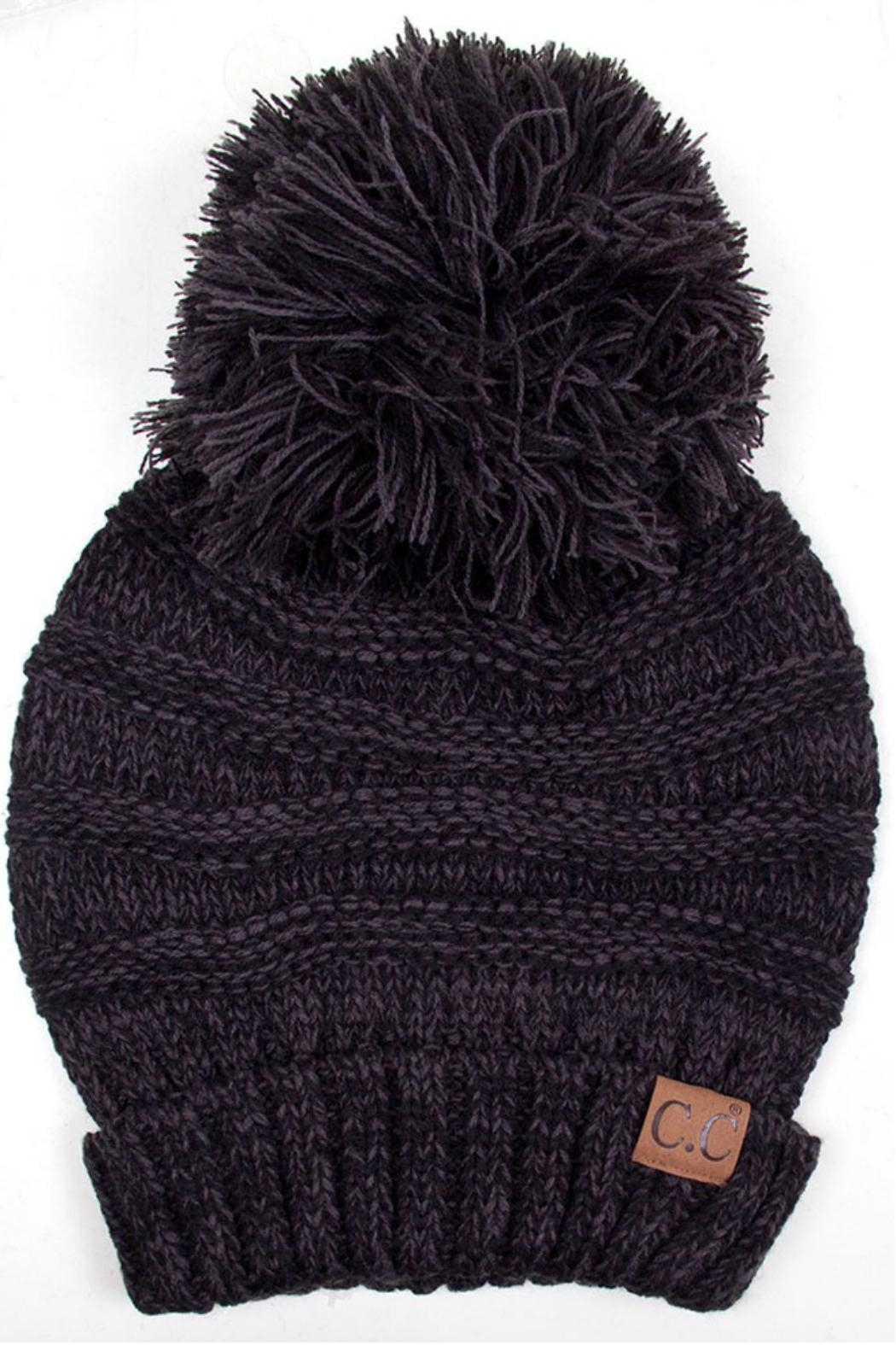 C.C Beanie Oversized Slouchy Beanie - Front Cropped Image
