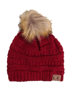Shoptiques Product: Red Pom Beanie