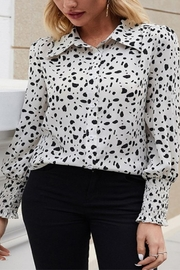 C+D+M Animal Print Blouse - Product Mini Image