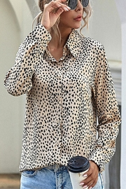 C+D+M Cheetah Print Blouse - Product Mini Image