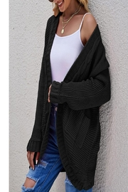 C+D+M Chunky Cable Cardigan - Front cropped