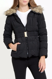 C'est Moi Quilted Fur Jacket - Front cropped