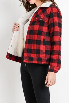 C'Est Toi Kirstin Buffalo-Plaid Jacket - Alternate List Image