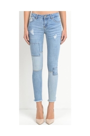C'Est Toi Light Patchwork Jeans - Product Mini Image