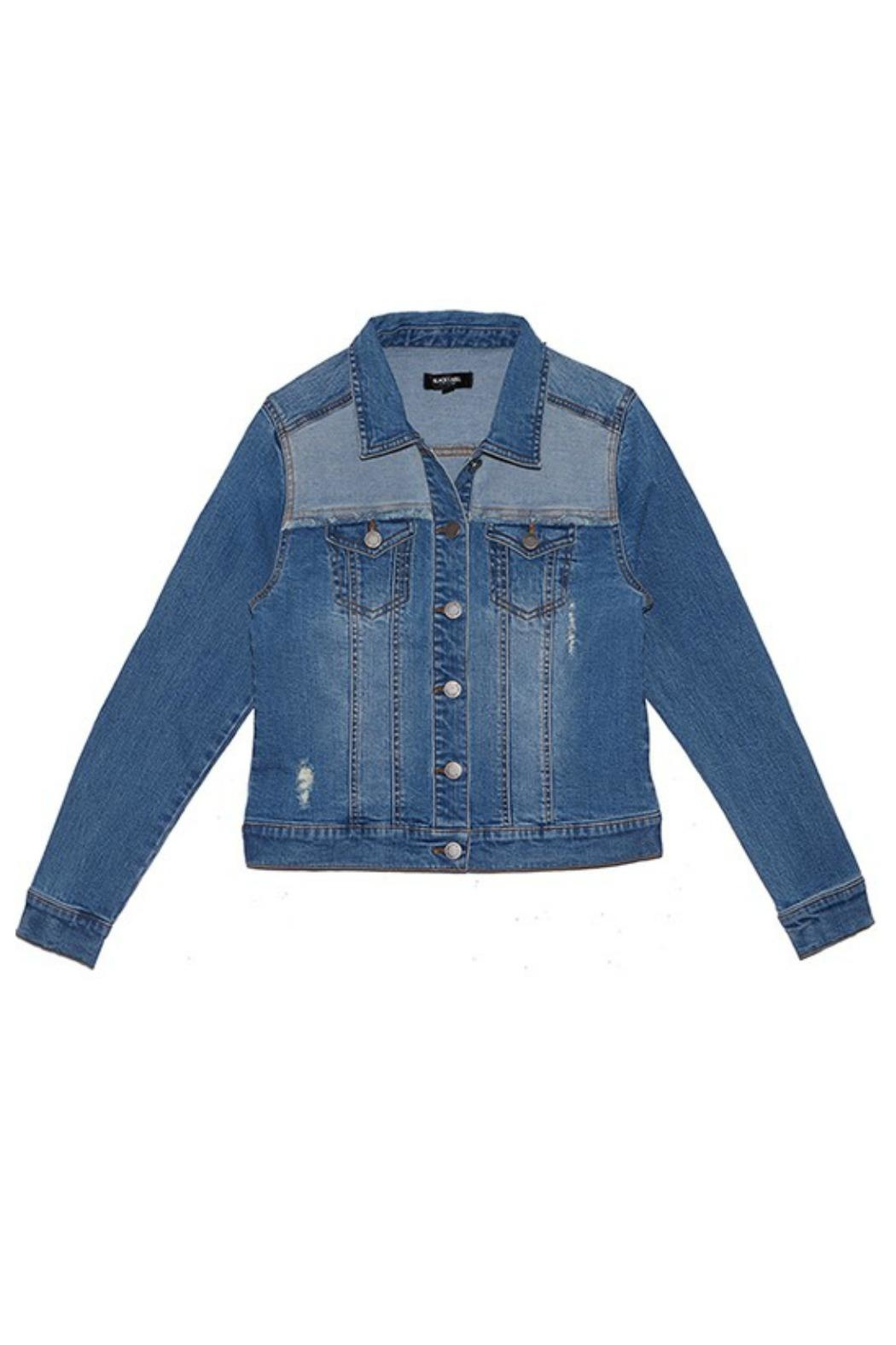 C'ESTTOI Distressed Multi Denim Jacket - Main Image
