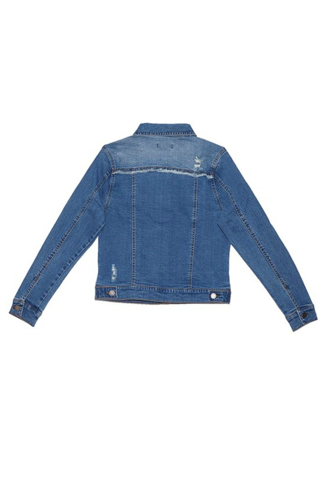 C'ESTTOI Distressed Multi Denim Jacket - Front Full Image
