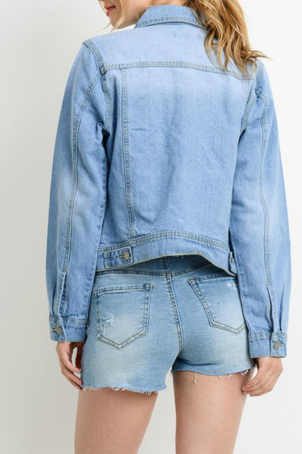 C'ESTTOI Light Denim Jacket - Side Cropped Image