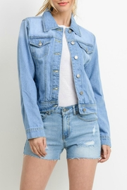 C'ESTTOI Light Denim Jacket - Front cropped