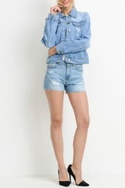 C'ESTTOI Light Denim Jacket - Back cropped